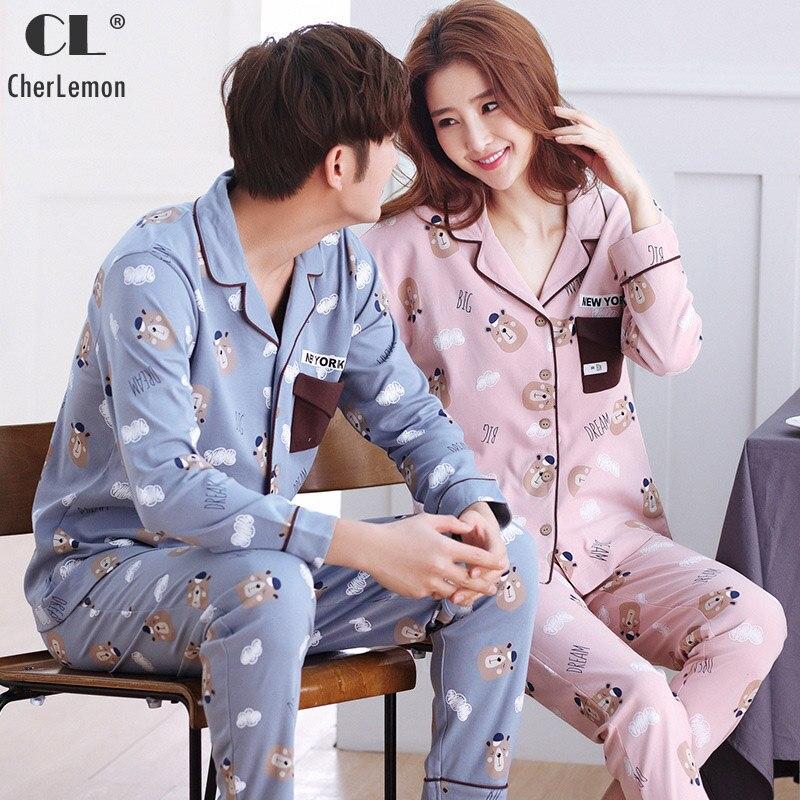 Herren-pyjama-garnituren Bzel Winter Herbst Mens Pyjamas Baumwolle Nachtwäsche Cartoon Pyjama Set Lange-sleeve Casual Männer Pyjamas Plus Größe L-xxxl Pijamas 2 Pcs