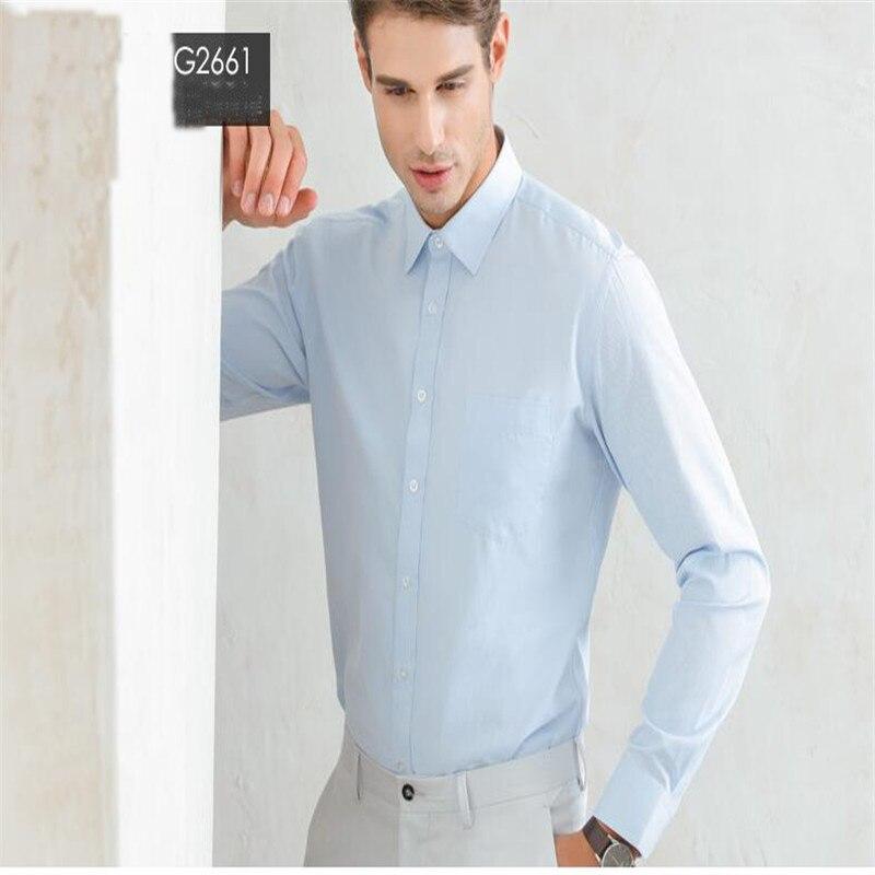 Weißes Herrenhemd mit langen Ärmeln / Günstige Slim Fit Hemden - Herrenbekleidung - Foto 6