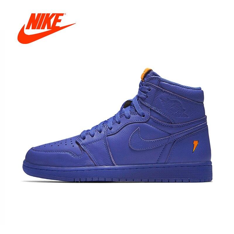 Official Original Nike Air Jordan 1 Gatorade Men's basketball shoes Outdoor sports AJ5997-555