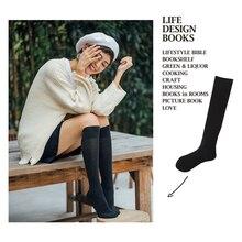 SP&CITY Chic Vintage Colored Cotton Harajuku High Socks Women Japan Style Student Long Female Fashion Elastic