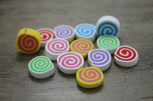 50pcs/lot10x5mm Polymer clay slice sushi rolls Food Flatbacks Resin Cabochons fit diy phone Children's hair accessories(China)