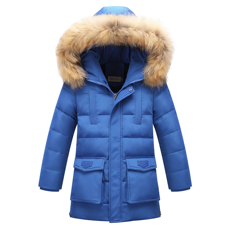 High Quality Boys Thick Down Jacket 2018 New Winter Children Long Warm Coat Clothing Boys Hooded Down Outerwear 8 10 12 15 Years new 2017 russia winter boys clothing warm jacket for kids thick coats high quality overalls for boy down