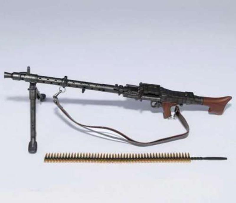 Custom 1//6 Light Machine Gun Weapon Model WWII German Maschinengewehr 34 Toy