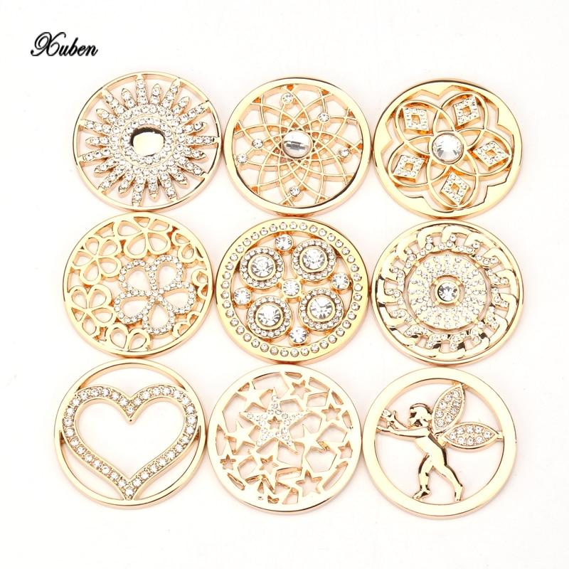 Xuben Promotion Gold Color 33mm Coin For Women Pendant