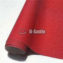 High Quality Bling Red Sandy Diamond Vinyl Film Sheet Bubble Free For Phone Laptop Skin Cover