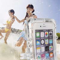 Hot Waterproof Bag for iPhone 6 6S 5S SE 6 Plus Extreme Sports Waterproof Case 120 Degrees Wide Angle Lens for GoPro Accessories