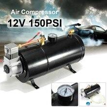 12 Вольт 150 фунтов/кв. дюйм воздушный компрессор 0,7 галлон насос бака для воздушного рога автомобиля грузовика