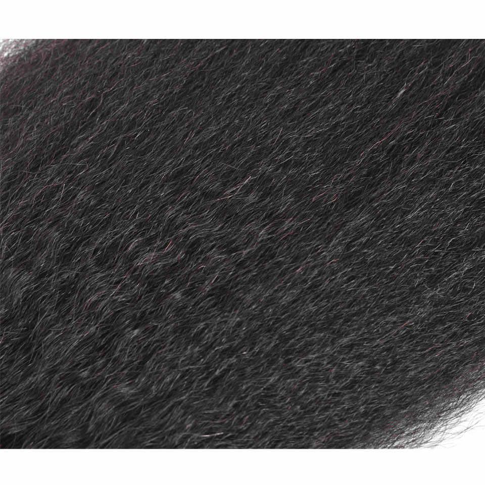 YVONNE Kinky прямое закрытие бразильские виргинские человеческие волосы Кружева Закрытие 4x4 бесплатная часть натуральный цвет