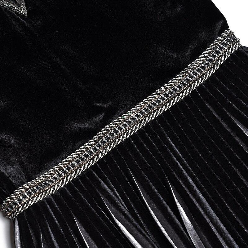Noche Vestidos Invierno Especial Cuello Patchwork Mujeres Vintage En Las Ocasión Calidad Vestido Midi E Otoño V Cordón Con Fiesta Nuevo 2018 De Superior H8PZqY0P