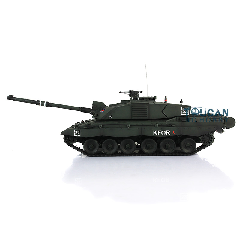 Henglong 1/16 Scale Deep Green Challenger II RTR RC Tank Upgraded Metal Tracks Sprockets Idlers Gearbox 3908 все цены