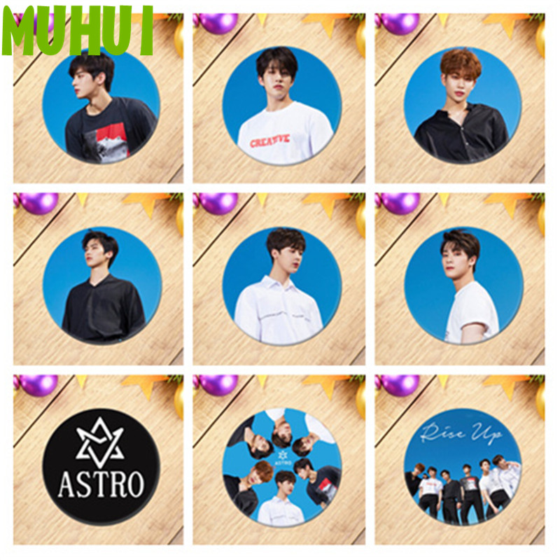 1pcs Kpop ASTRO Cosplay Badge EUNWOO MOONBIN Brooch Pins Collection Badges For Backpacks Decoration 18718 bts taehyung warriors