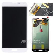 freeshipping 100 Original for Samsung Galaxy S5 Prime LCD display touch screen Digitizer white for G906S