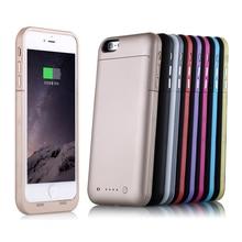 Ультра-тонкий 3800 мАч 6800 мАч для iPhone 6 6 s/6 S плюс 5.5 Мощность чехол Красочные Батарея Зарядное устройство Дело банк