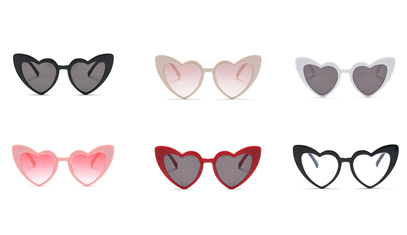 love heart sunglasses women cat eye vintage 7112 details (2)