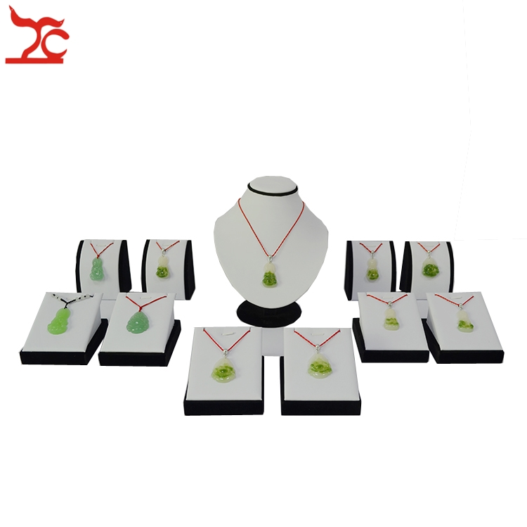 Exhibition Stand Jewelry : Pcs wooden jewelry display stand portable white and black