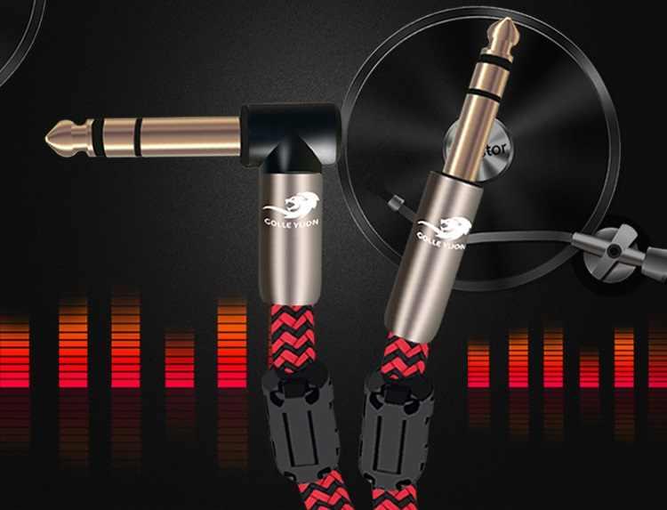 1/4 в TRS к 1/4in стерео 6,35 мм штекер сбалансированный Соединительный аудио кабель для миксера консоли усилитель микрофон 1 м 2 м 3 м 5 м