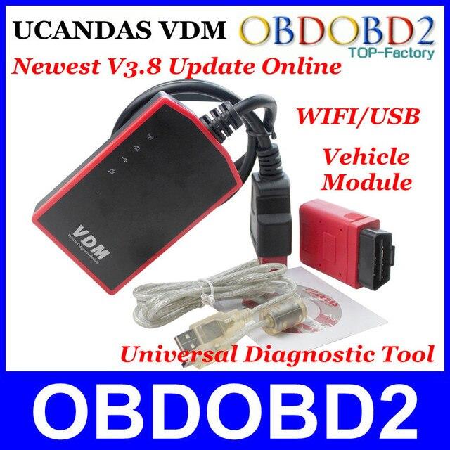 UCANDAS ВДМ Последним V3.8 Программного Обеспечения Обновление Онлайн 100% Первоначально Универсальный Автомобиль Диагностический Модуль равно DIAGUN/CDP