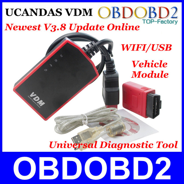 UCANDAS VDM Newest V3.8 Software Update Online 100% Original Universal Vehicle Diagnosis Module Equal to DIAGUN/CDP