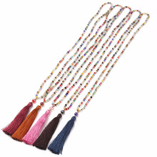 Bohemian Collares Long Tassel Necklaces Pendants Women 2018 Fashion Brand Jewelry Fringe Beads Collier Necklace Bijoux