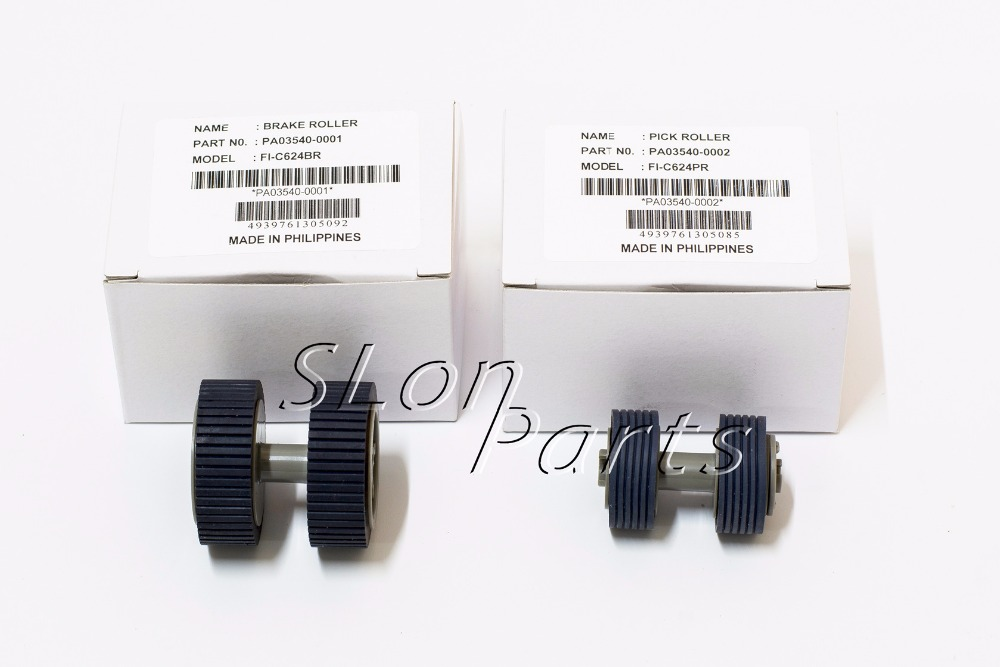 PA03540-0001 PA03540-0002 for Fujitsu 6130 Fi-6130 Fi-6130Z Fi-6230 Fi-6140 Fi-6240 Fi-6125 Fi-6225 IX500 New Pick Up Roller Kit