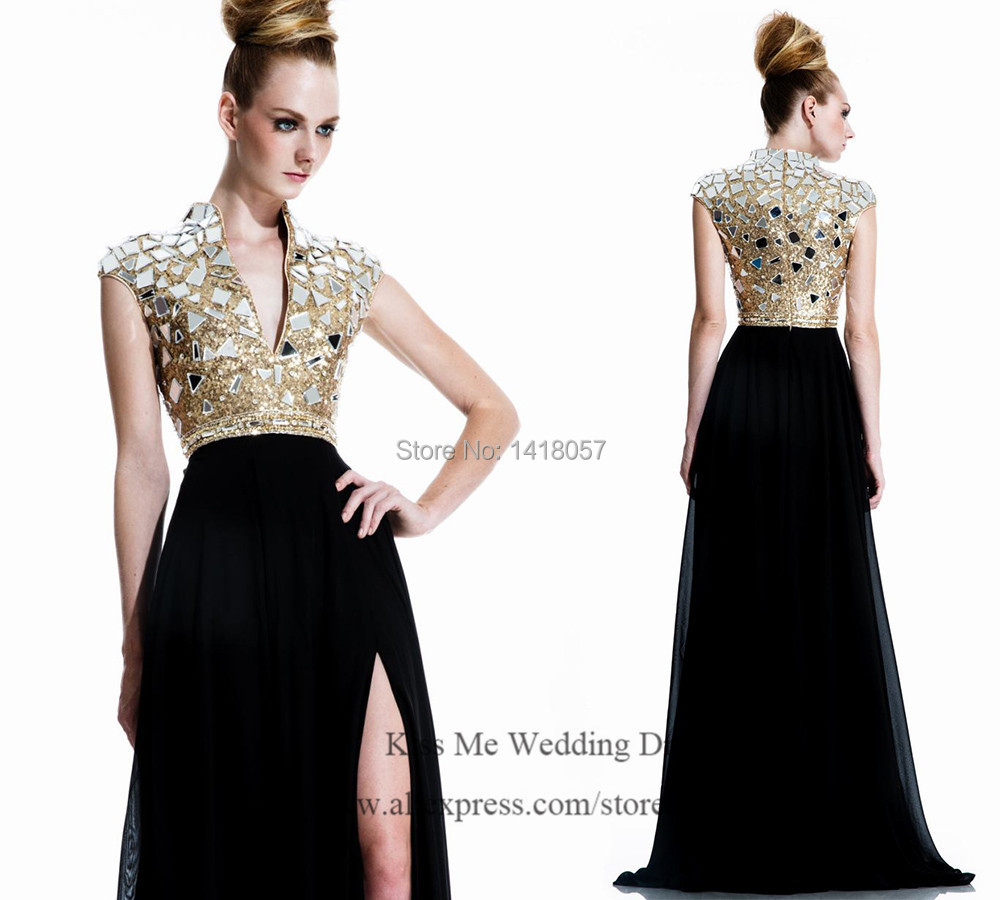 Black and Gold Evening Dresses | Dress images