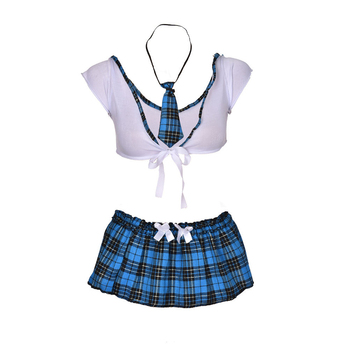 Lingerie Women Hot Student Uniform Dress Outfit