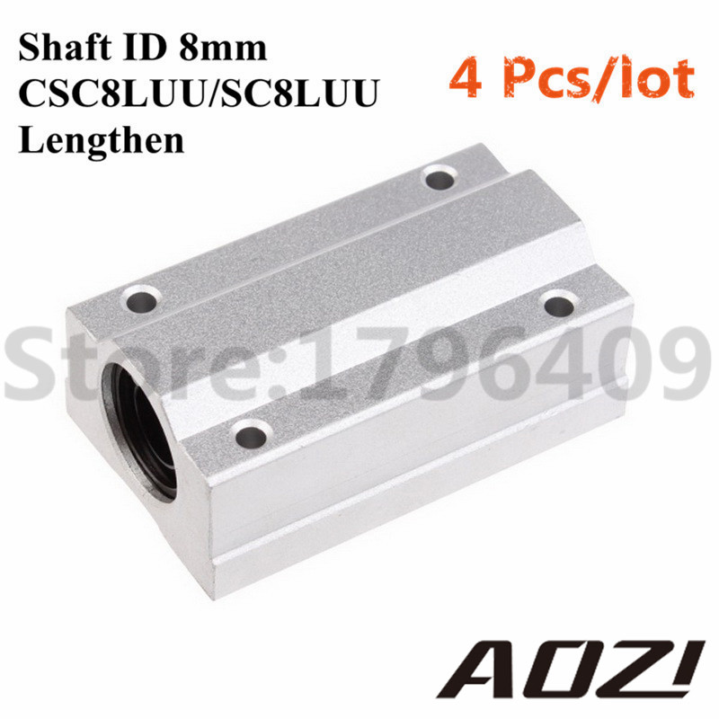 4 PCS/LOT SC8LUU/SCS8LUU 8mm Lengthen Linear Ball Bearing Slide Unit 8mm Linear Bearing Block High Precision Wholesale цены онлайн
