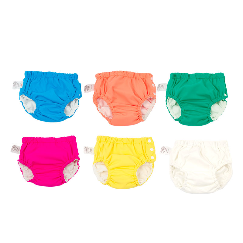 Newborn Baby Cloth Washable Diaper Cover Swimsuit Infant Children Swimwear Girl Reusable Diapers Waterproof Panties Swim Nappies