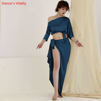 2019 New Woman Bellydance Costumes Latin Belly Dance Suits Top & Hip Scarf With Underpants Performance Competition Wear