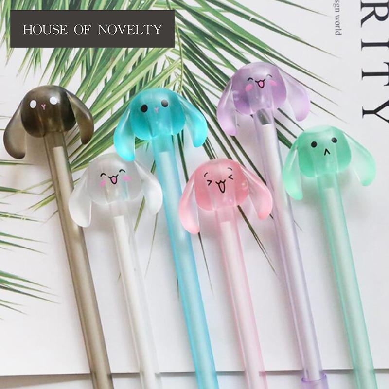 Cute Happy Long Ears Animal Gel Pen Ink Marker Pen School Office Supply Escolar Papelaria