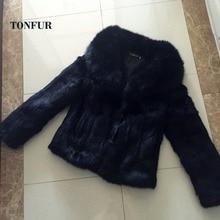 Lady Fashion Luxury Big Natural Fox Fur Collar Real Full Pelt Rabbit Fur Coat Whole Skin Rabbit Fur Waistcoat WSR73