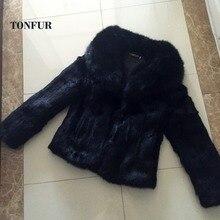 女性ファッション高級自然巨乳フォックス毛皮の襟リアルフル毛皮のコート全体スキンウサギの毛皮のチョッキ WSR73