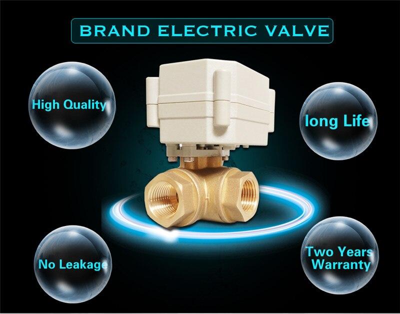 Tf20-bh3-a, латунь 3/4 ''(DN20) 3 Way Т/l Тип Горизонтальный Электрический потока Управление Клапан tf20-bh3-a dc12 или 24 В 2/3/ 5/7 провода