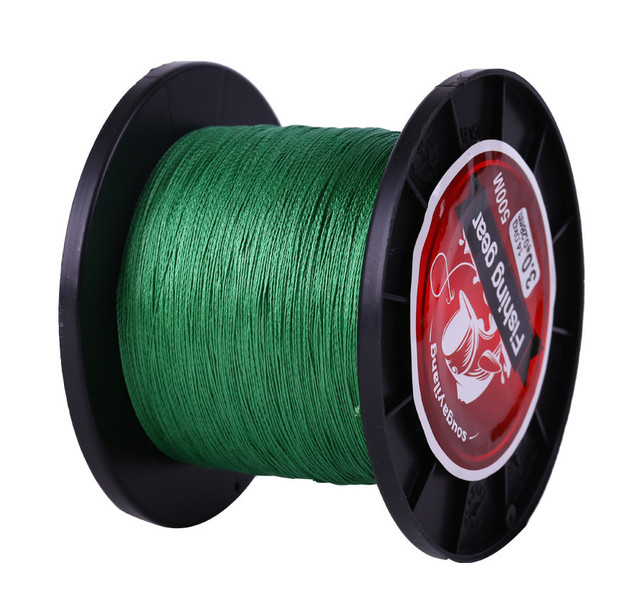 Sougayilang 4Colors 0.4-8LB Braided 4 Strands Fishing Line 500m Pe Material Rope Braided Lines Multifilament for Fishing Pesca