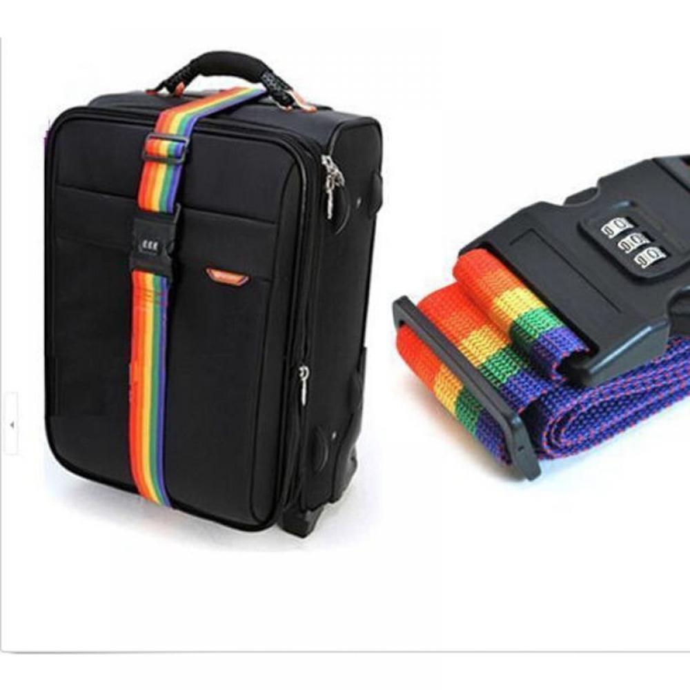 Luggage Strap Cross Belt Packing Adjustable Travel Suitcase Nylon 3 Digits Password Lock Buckle Strap Baggage Belts Strap Lock
