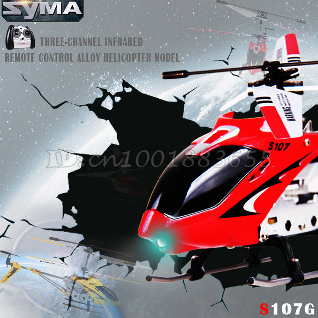 Free shipping Wholesale Syma S107G S107 Toy RC Helicopter with gyroscope & USB,mini 3.5 CH helicopter and Main blade spare part