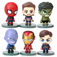 The Avengers 3 Doctor Strange Thanos Iron Man Superheroes Hulk PVC Action Figures Spiderman Figurines Kids Toys for Children(China)