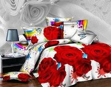 2016 nueva aliexpressbedding colchas sábanas queen size cama ropa primavera de colores rosa cama textil 3 cuatro sets