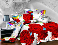 2016 New Aliexpress Taobao Explosion Models Ebay Amazon Spring Colorful Rose Textile Bed 3 Four Sets