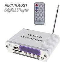 Мини Dazzle Цвет LED уровень Дисплей Мощность автомобиля Усилители домашние цифровой аудио плеера с Дистанционное управление Поддержка FM/SD/ USB/DVD