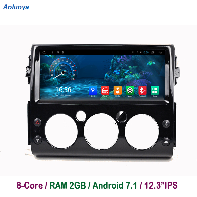 Aoluoya 2 GB RAM Octa base Android 7.1 lecteur dvd De Voiture Pour Toyota FJ Cruiser 2007 2008 2009 2010 2011- 2016 Radio navigation gps BT