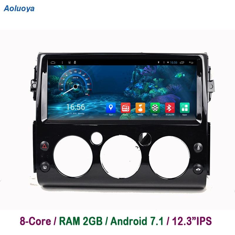 Aoluoya 2 GB RAM Octa base Android 7.1 lecteur dvd De Voiture Pour Toyota FJ Cruiser 2007 2008 2009 2010 2011- 2016 Radio navigation gps BT
