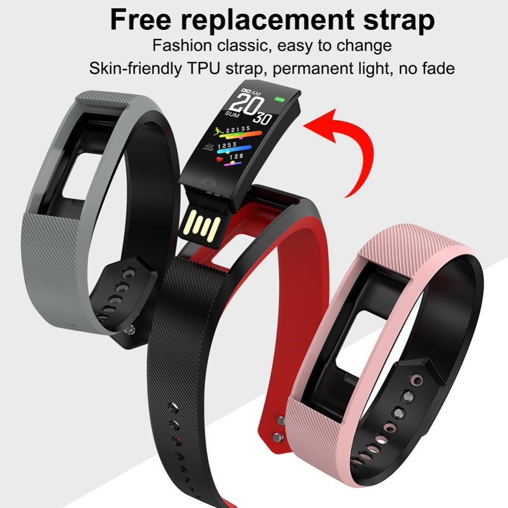 F6 Heart Rate Smart Watch Blood Pressure Oxygen Monitor Fitness Bracelet Sport Activity Tracker Smart watch For Android IOS in Smart Watches from Consumer Electronics
