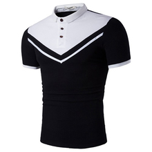 ZOGAA Brand Clothing Black & white Men Polo Shirt Business Casual Solid buttons Short Sleeve Breathable Slim Fit