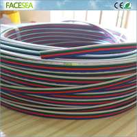 Free DHL 100m Electrical Wire Tinned Copper 4 Pin 22AWG Extension RGB Wire Connector For Ws2801