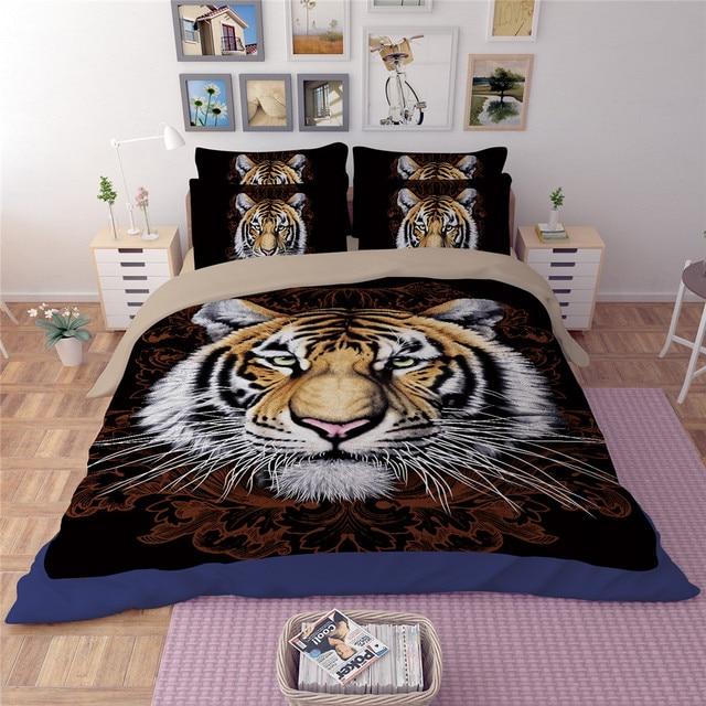 Yeekin Kuhlen Konig Von Tiger Tier Jungen Bettwasche Abdeckung