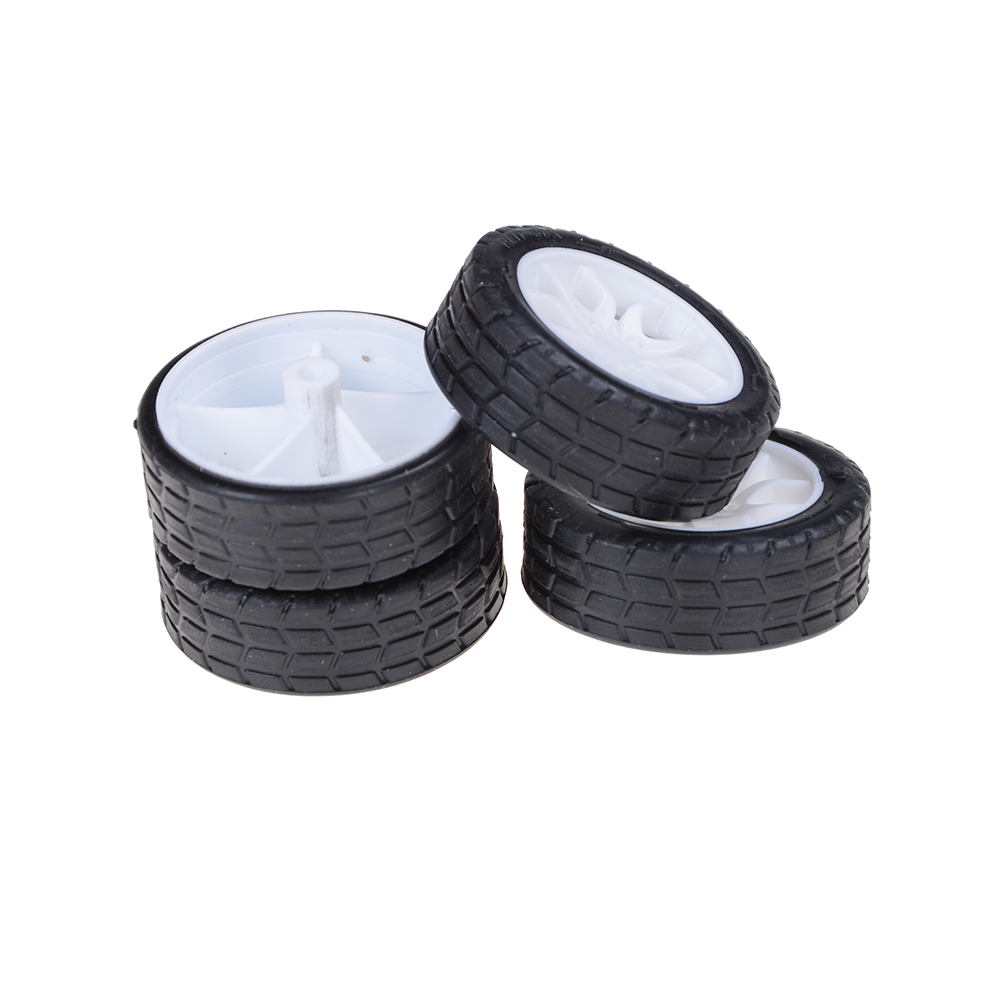 4pcs Hollow Rubber Car Tire Toy Wheels Model DIY Toy Accessories 20*8*1.9mm