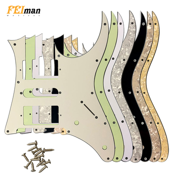 Pleroo Guitar accessories pickguard with 10 screws suit for Japan MIJ Ibanez RG350 EXZ Guitar Humbucker HSH Pickup Scratch Plate ootdty 4x lp guitar pickup surround screw humbucker pickup ring mounting screws suit for guitar