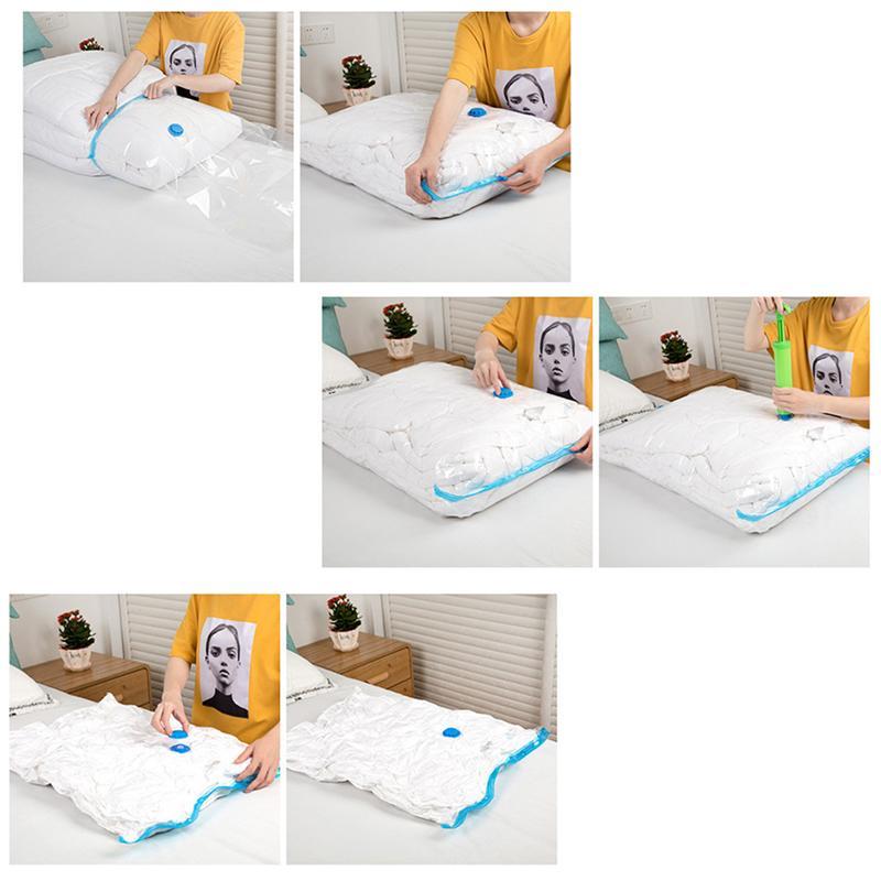 OUNONA вакуумные пакеты для хранения, противопаразитный мешок для хранения одежды, складная сумка для хранения одежды, органайзер для одеял