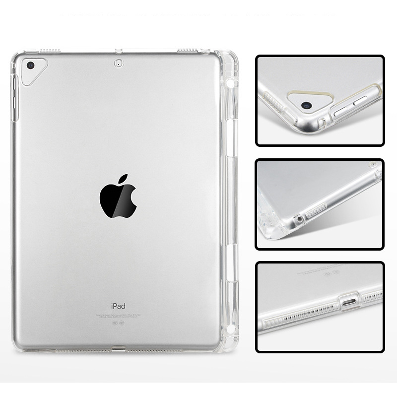 Tablet Case For New iPad Pro 12.9 Clear Crystal Transparent Soft TPU With Pen Holder Case For iPad Pro 12.9 inch 2018 Back Cover (10)